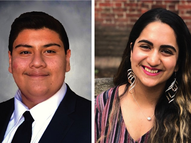Harvard undergraduates Jorge Campos and Reeda Iqbal