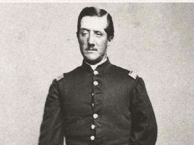 Historic photograph of Charles Follen Cabot, Civil War soldier, standing, in uniform