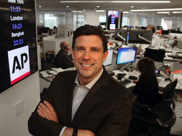 Michael Fabiano in the Associated Press newsroom