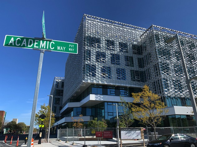 The new Harvard School of Engineering and Applied Sciences building in Allston.