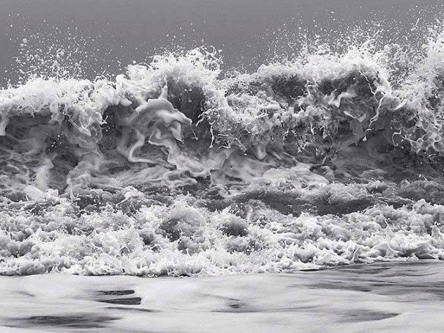 Dramatic photograph of volatile hurricane waves, by artist Clifford Ross