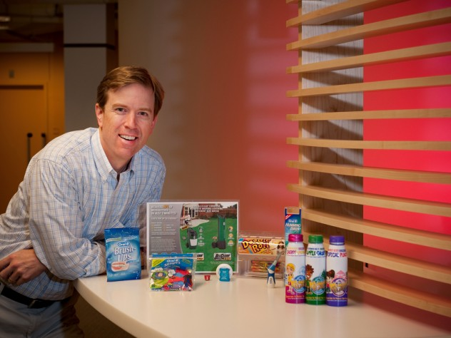 Gordon Jones, the lab's director, with some of his innovations