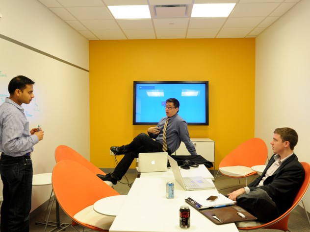 The lab offers two dozen meeting rooms.