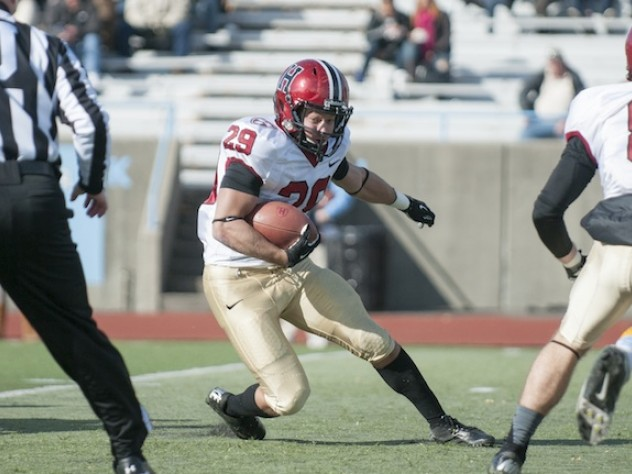 Tailback Paul Stanton Jr. (29) ran wild in the opening quarter at Columbia. His 54-yard breakaway set up Harvard's first touchdown, and less than three minutes later Stanton ran for a 22-yard score that helped Harvard to a 14-0 lead.