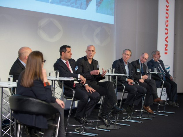 Panelists discuss the challenges of sustainable buildings at the close of Friday's conference.