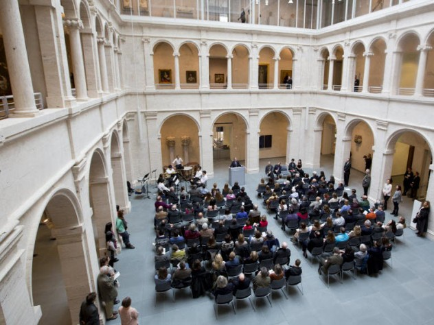 Members of the Harvard community and area residents celebrated the official opening of the Harvard Art Museums on November 16.