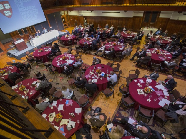 The two-day conference, held in the former Radcliffe gymnasium, drew officials from universities around the world.
