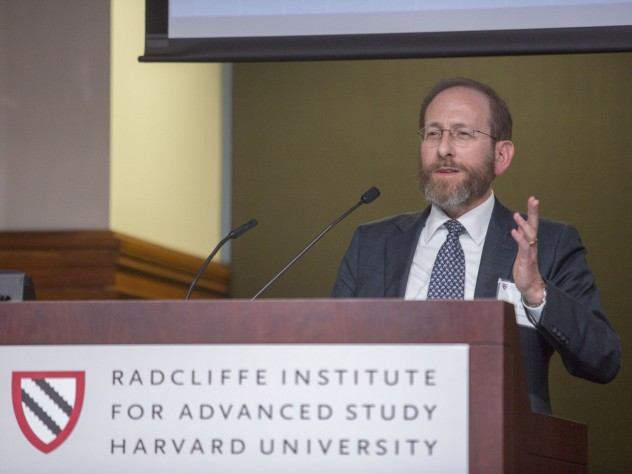 """Wrapping up the conference, Harvard provost Alan M. Garber noted the challenges ahead for Allston campus development. """"What we think about today, much more deliberately than in the past,"""" he said, """"is how we relate to the community."""""""