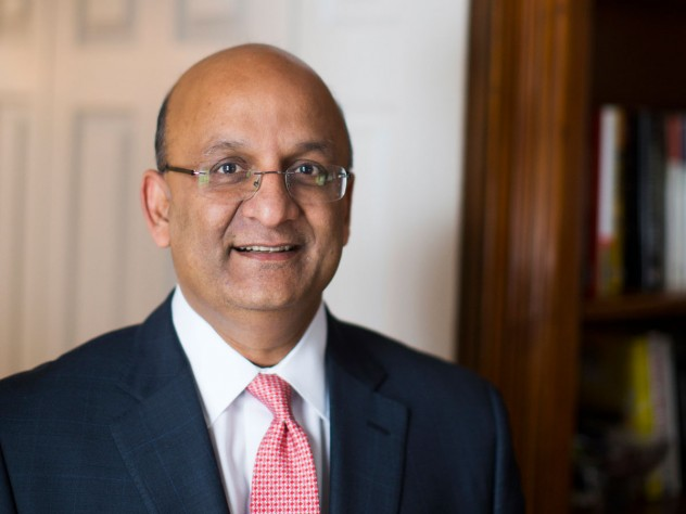 A portrait of Harvard Business School dean Nitin Nohria