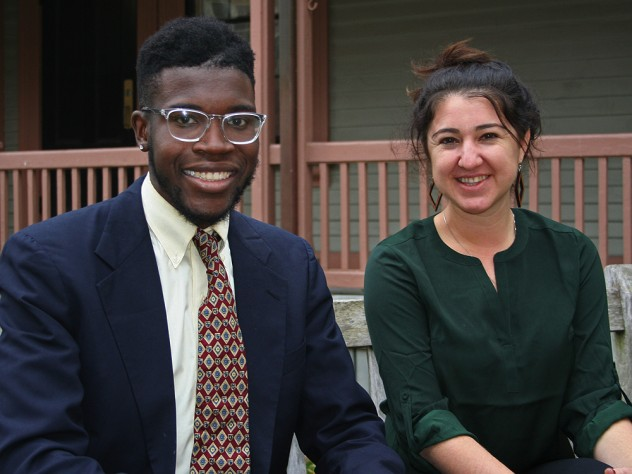 Photograph of Harvard Forward candidates Jayson Toweh and Thea Sebastian