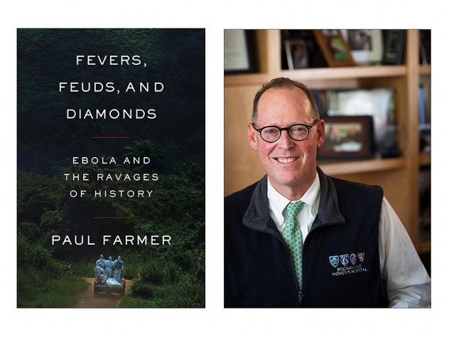 Collage of Cover of Fevers, Feuds and Diamonds by Paul Farmer and a Headshot of Paul Farmer.
