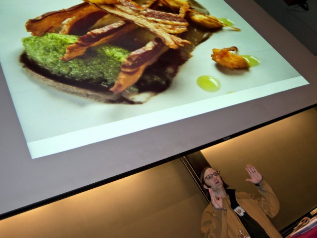 """Wiley Dufresne, the innovative chef at wd~50 in New York City, presents a lecture titled """"Meat Glue Mania"""" as part of the public lecture series."""
