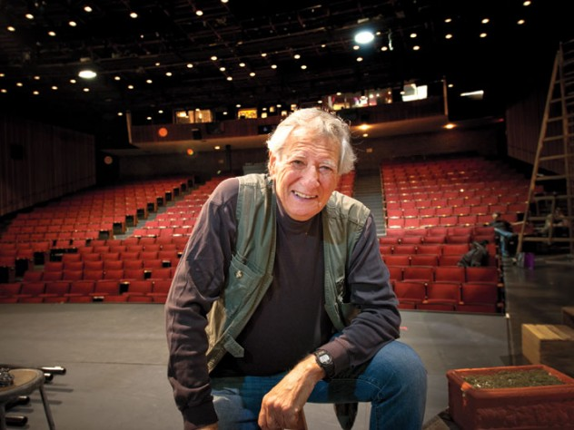 Robert Brustein onstage at the Loeb Drama Center, home of the American Repertory Theater, which he founded in 1979