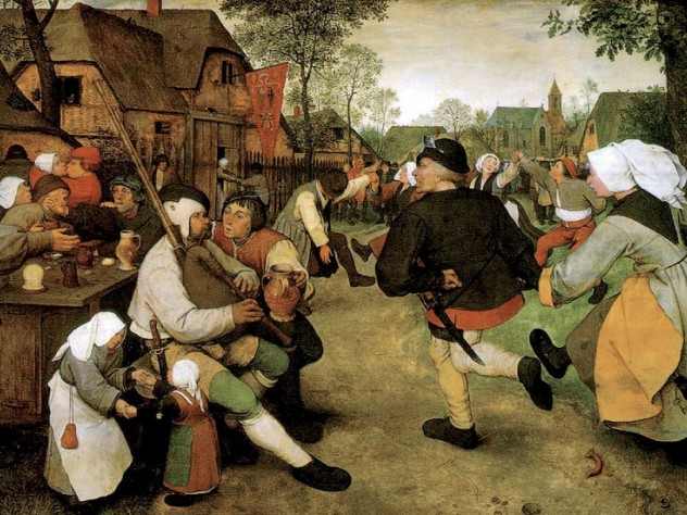 <i>Peasant Kermis,</i> an outdoor festival, by Pieter Bruegel (c. 1567-1568), from the Kunsthistoriches Museum, Vienna