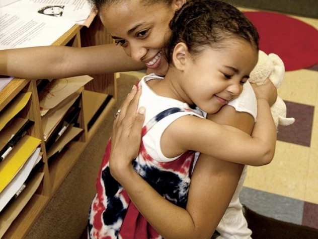 In Dorchester, Solaylah DePina says goodbye to her mother, Saida Neves.