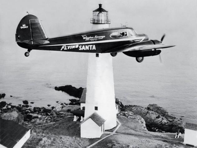 En route over Boston Light (1947)