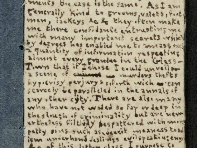 A page from a miniature novel written by teenager Charlotte Brontë