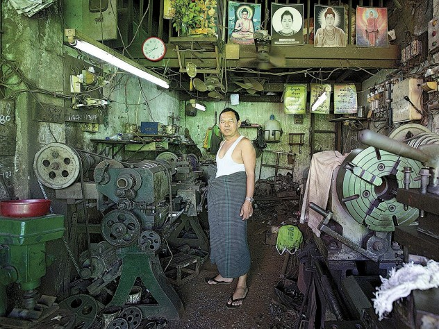 Proximity Designs sources parts from local workshops, like this one in northeastern Yangon.