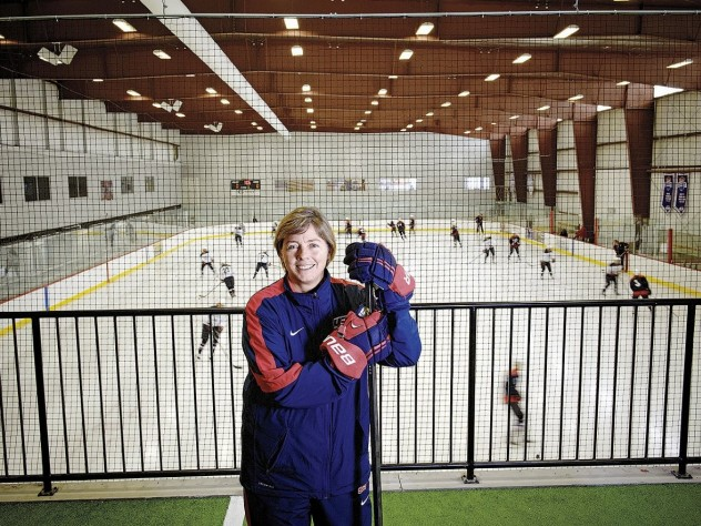 Katey Stone at the Edge Sports Center in Bedford, Massachusetts