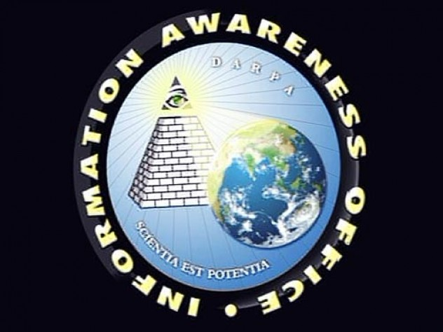 """The logo of DARPA's Information Awareness Office """"captures the idea that observation is power,"""" says Yochai Benkler."""