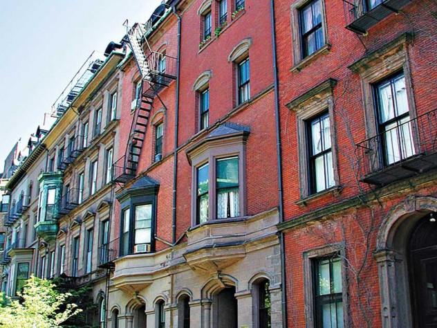 The home's relatively simple façade