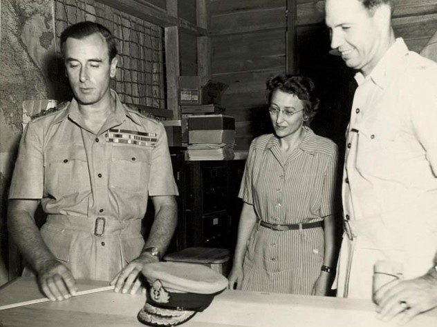 Du Bois at OSS headquarters in Ceylon with Lord Mountbatten (at left), circa 1944