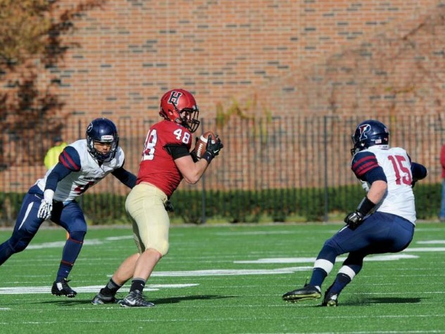 Against Penn, senior tight end Ben Braunecker did his part with eight catches, but the Quakers pulled off a come-from-behind win, 35-25.