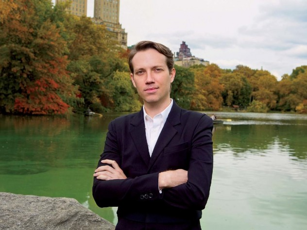 Anthony Acciavatti beside the lake in Central Park, a body of water closer to home