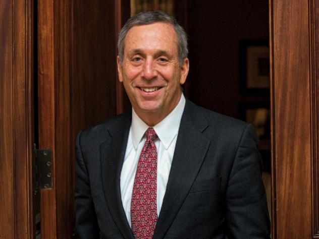 Photograph of Harvard president Lawrence S. Bacow