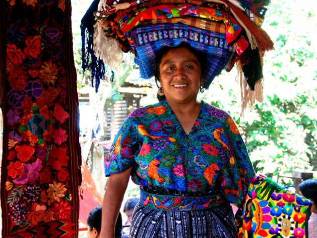 A Mayan textile vendor, Ruth, whom Smith befriended in a Guatemalan village market