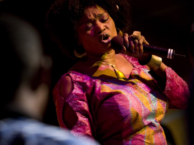 A performance by Malian singer and women's-rights advocate Oumou Sangare concluded the commemorative event at the Harvard Kennedy School.