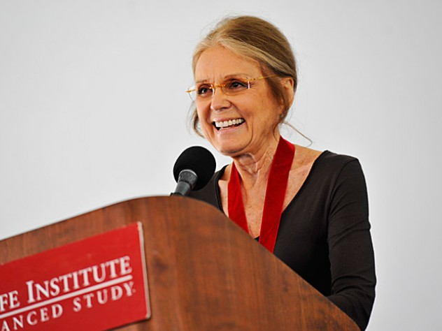 At the annual Radcliffe Day luncheon, Gloria Steinem addresses Radcliffe College alumnae, as well as alumni and alumnae of the Bunting Institute and Radcliffe Institute fellowship programs, and other guests of the Radcliffe Institute for Advanced Study.