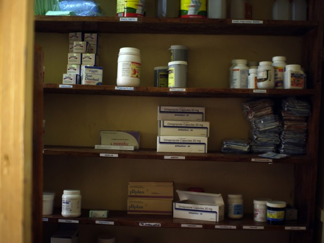 A supply closet in the clinic