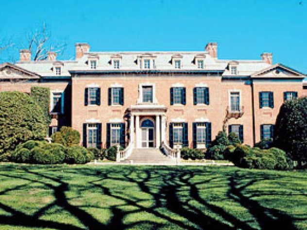 The main house at Dumbarton Oaks.