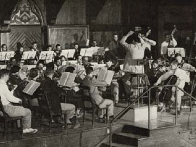 An HRO rehearsal in the early 1950s.
