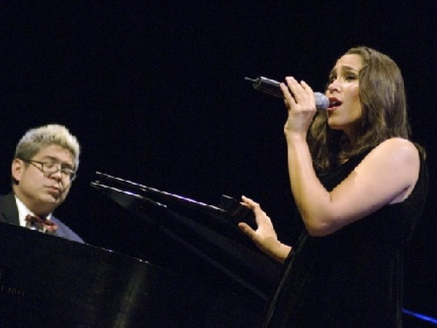 Thomas Lauderdale '92 and China Forbes '92, both of Pink Martini, entertained and amused the audience in Sanders Theatre.