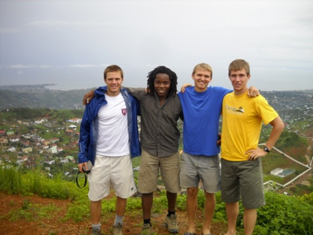 Members of the GMin team. From left: Sam Slaughter '09, David Sengeh '10, Clement Wright '09, and Justin Grinstead '10.