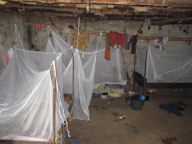 A home in one of the villages where GMin distributed nets. The organization gave out enough nets to cover all sleeping spaces, not just those used by children.