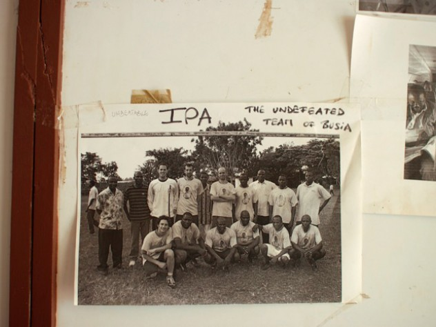 At the IPA office in Busia, a slice of life: a photo of the staff soccer team