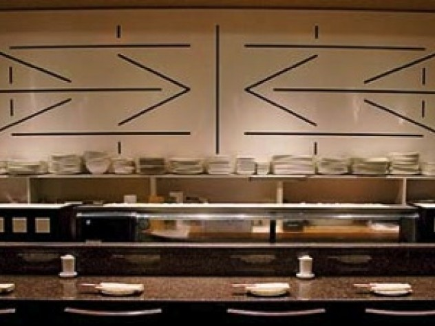 Douzo's sushi counter