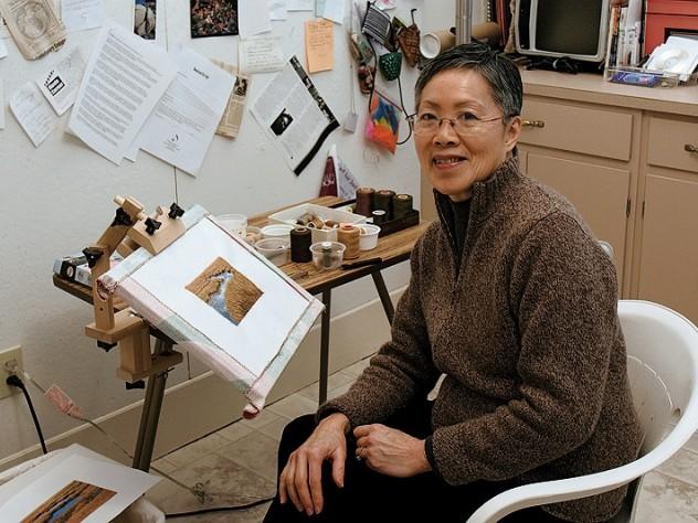 Behar in her studio.