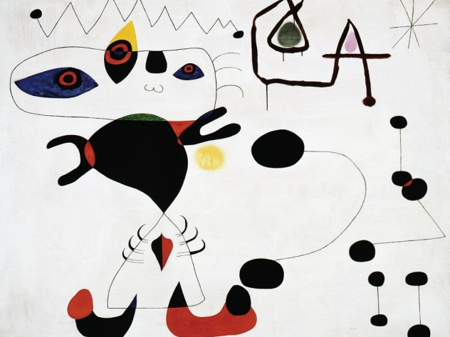 Joan Miró's 1945 <em>Woman in the Night</em> is another work included in Pulitzer's gift.