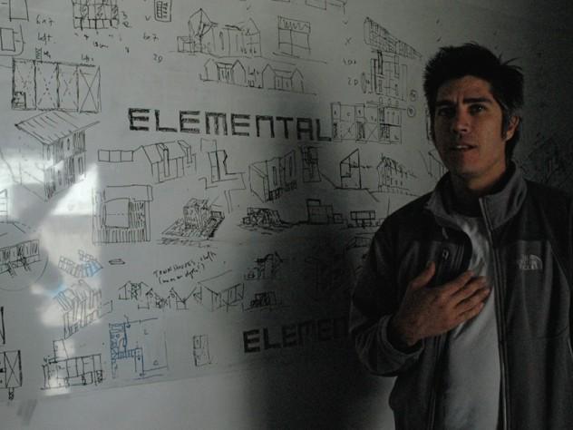 Alejandro Aravena in his office.