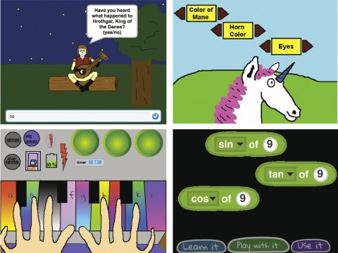 With Scratch, students can code interactive stories, games, and animations.