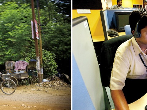 Globalization's benefits flow unevenly to a garbage collector in Allahabad, India, and a call-center worker in Bangalore.