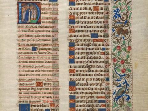 Illuminated manuscript page