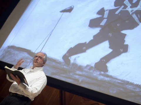 William Kentridge delivers the first 2012 Norton Lecture in Sanders Theatre.