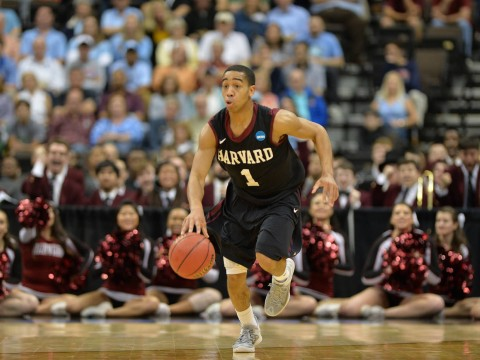 Siyani Chambers '16 scored 13 points—including a go-ahead three-pointer and free throw with just over a minute remaining—in Harvard's 67-65 loss to North Carolina.