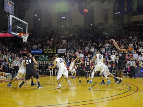Steve Moundou-Missi's game-winning jumper sent Harvard back to the NCAA tournament for the fourth consecutive year.