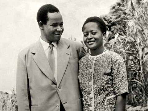 A wedding photograph of Masauko and Catherine  (Ajizinga) Chipembere. Years later,  Catherine Chipembere served as deputy minister of health and population in the Malawian government.